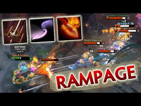 One Hit RAMPAGE [Broken Ability Draft Combo: Moon Glaives + Swashbuckle = Unlimited Glaives] Dota 2