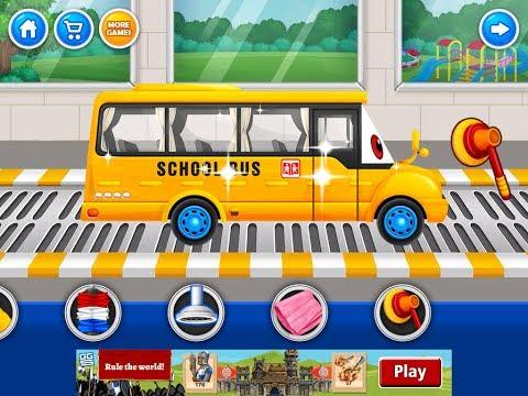 Car Wash Salon School Bus
