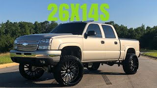 LIFTED CATEYE SILVERADO ON 26X14s