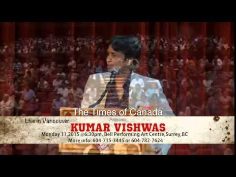 Kumar Vishwas In Vancouver