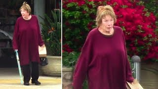 Actress Shirley MacLaine Goes Makeup Free At The Pharmacy In Malibu