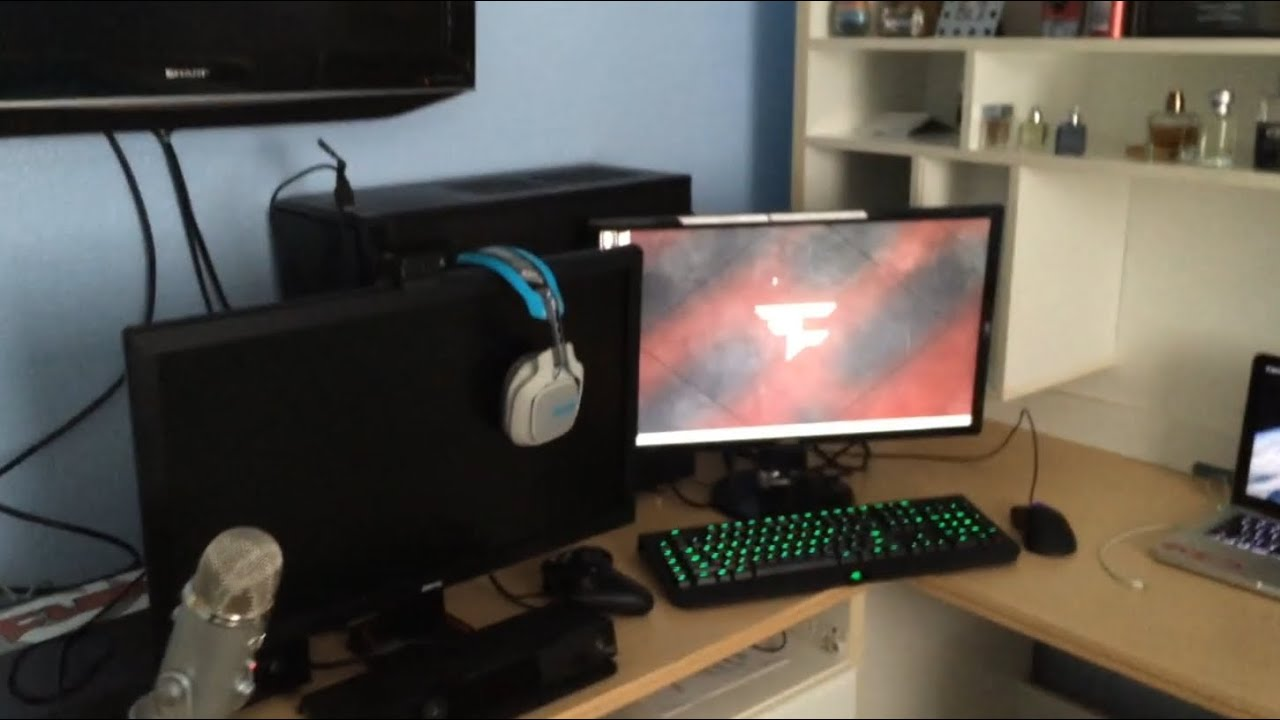 Faze Rug Updated Gaming Setup Video Youtube