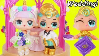 LOL Surprise Unicorn & Luxe Boy Get Married + Big Wedding Lil Punk Sister Confetti Pop Toy Video
