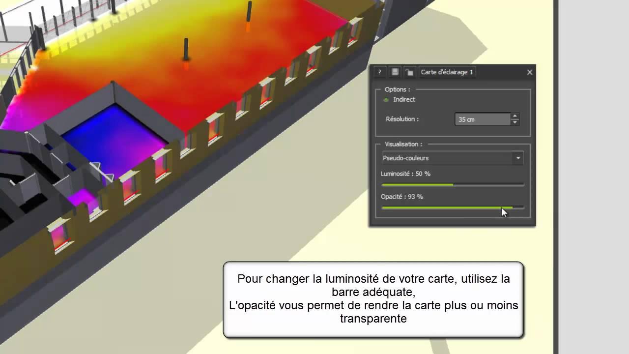 Visualiser la lumi re naturelle avec la carte d 39 clairage for Interieur lumiere abat jour