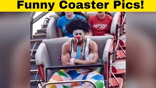 The Funniest Rollercoaster and Ride Pictures From Theme Parks 🎢