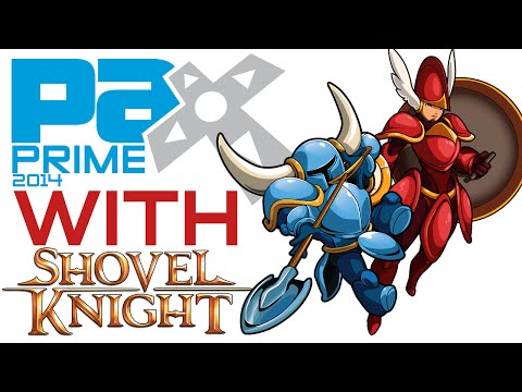 PAX Prime 2014 WITH Shovel Knight and Shield Knight (Shovel Knight Cosplay)