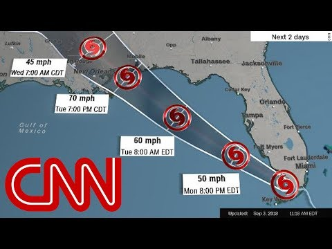 Tropical storm Gordon: Hurricane warning issued for Gulf Coast