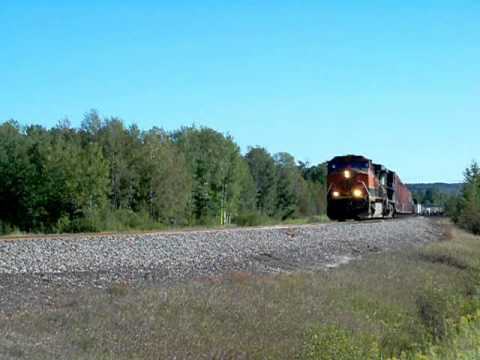 BNSF around Superior, WI; 9-14-10