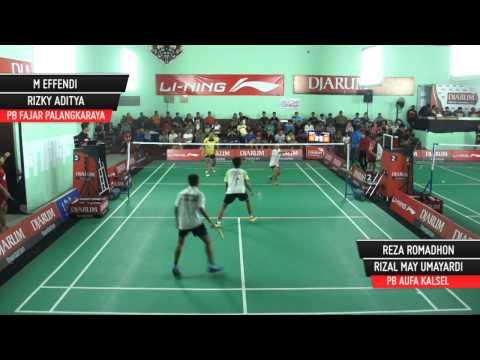 M Effendi/Rizky Aditya (PB Fajar P Raya) VS Reza Romadhon/Rizal May (Mutiara Cardinal Bandung)