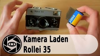 Rollei 35 Analog Kamera: Laden und Entladen Tutorial.