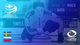 Sweden v Russia - round robin - LGT World Women's Curling Championships 2019
