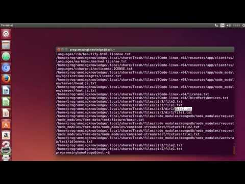 Linux Command Line Tutorial For Beginners 29   find command