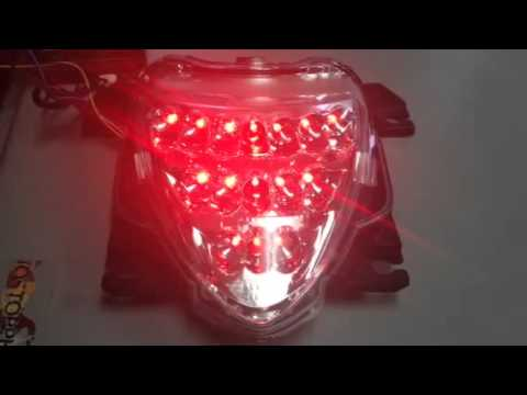 CLEAR OR SMOKE TAIL LIGHT WITH BUILT IN TURN SIGNALS FOR SUZUKI M109R