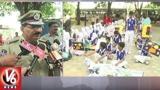 DGP Mahender Reddy Flags Off Children Walkathon At People's Plaza | Hyderabad