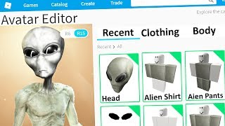 MAKING MY AREA 51 ALIEN a ROBLOX ACCOUNT