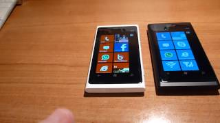 Nokia Lumia 800 White Vs. Black