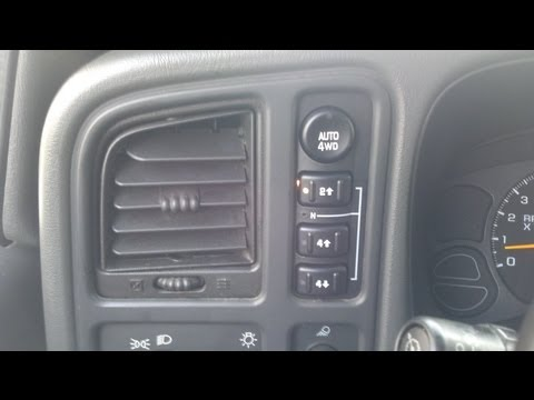 03-06 Silverado/Sierra Service 4 Wheel Drive message - Test and replace 4WD switch