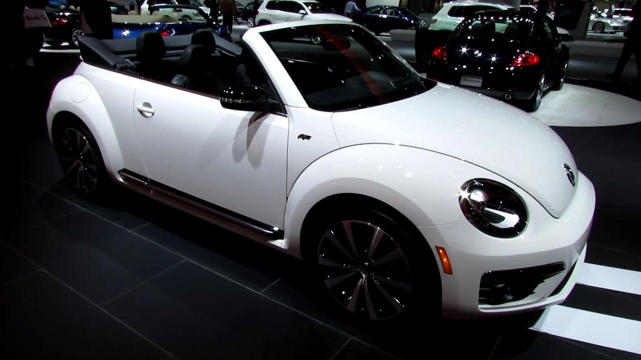 2013 Volkswagen Beetle Turbo R-Line Convertible - Walkaround - 2013 Detroit Auto Show - YouTube