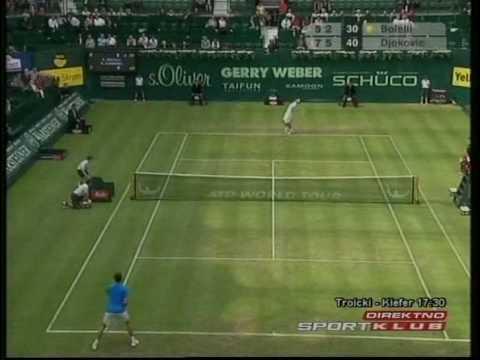 Novak Djokovic - Simone Bolelli / Halle 2009 Gerry Weber Open (R2)