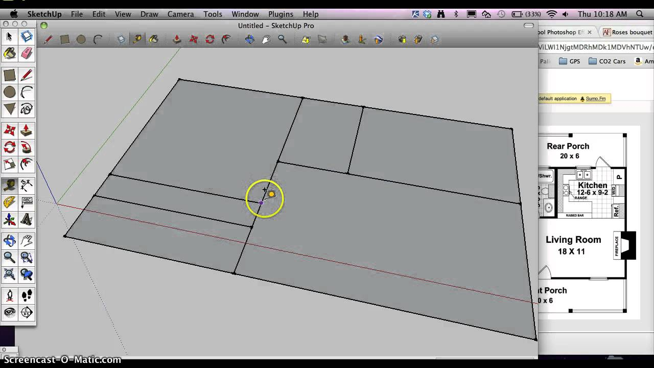 How To Start A Architectural Floorplan In Google Sketchup Youtube
