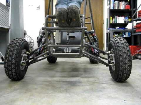 Suspension Travel testing of 2010 Hopkins Baja car - YouTube