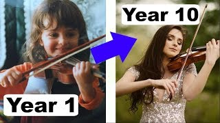 10 Years Violin Progress From Beginner To Professional
