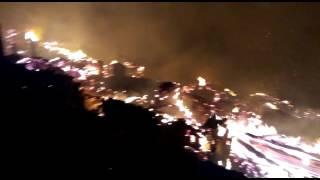 Devastating fire at tangnu village in Shimla district