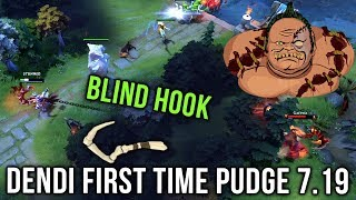 Dendi Pudge First Time on 7.19 Patch Nerfed Hook - Reason Why We Love Dendi - Dota 2