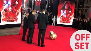 BB8 perfected his Royal bow to meet Princes William and Harry!