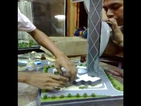 ARCHITECTURAL SCALE MODEL PLABOY BUILDING IN THE MAKING By emmm