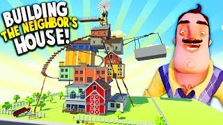 BUILDING HELLO NEIGHBOR'S HOUSE IN VIRTUAL REALITY WORLD! | Tiny Town VR Gameplay HTC Vive