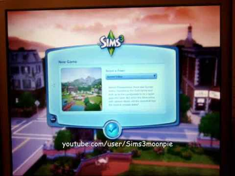 The Sims 3 Game loading!  DO NOT INSTALL WITH THE EA DOWNLOAD MANAGER  Awesome graphics!!