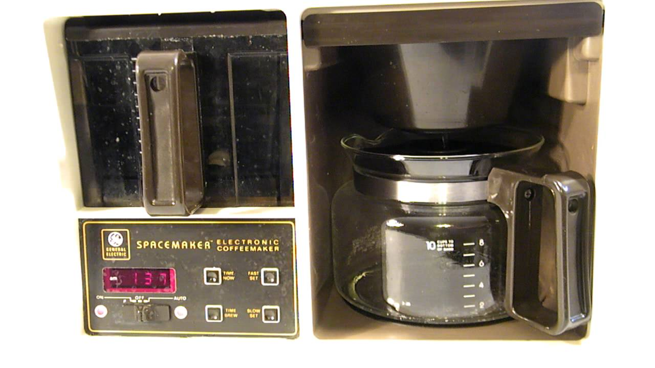 Ge Coffee Maker How To Use : VINTAGE GE / BLACK & DECKER 10-CUP SPACEMAKER COFFEE MAKER with AUTO BREW - YouTube