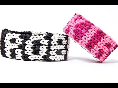 Rainbow Loom Five Row Name Bracelet 1 LOOM no transfers - Pixel Letters and Numbers On Wrist