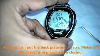 Battery change - Timex Ironman Triathlon 200 Lap Tap Digital Heart Rate Monitor watch - T5K543