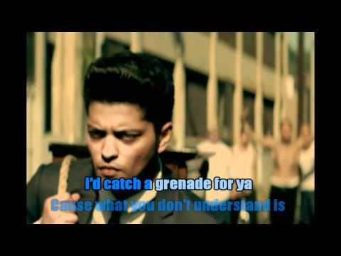 Bruno Mars - Grenade Karaoke video