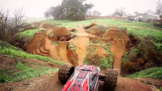 Traxxas Vid Preview - E-Revo Foggy Morning Dirt Jumps...
