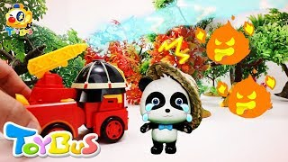Robocar Poli Puts out Fires | Dinosaur World | Firefighter Pretend Play | Kids Toys | ToyBus