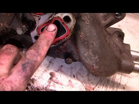How to replace a water pump. part II Chev Suburban Vortec truck