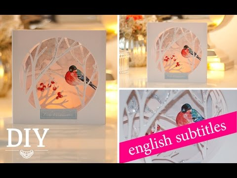 Diy h bsche weihnachtskarte selber machen diy christmas - Interaktive weihnachtskarte ...