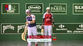 Battle of the jai alai  right sides-  Irastorza or Lopez?  2017