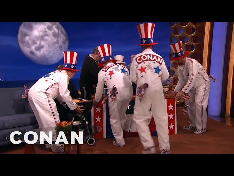 Conan's 4th Of July Pit Crew  - CONAN on TBS
