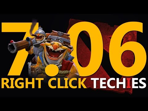 7.06 RIGHT CLICK TECHIES! - DotA 2 Techies Full Ranked Match