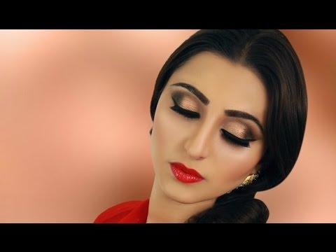 Neutral Smokey Eye Makeup Tutorial - Indian Bridal - Asian/ Pakistan / Arabic Contemporary Look