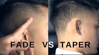 Fade vs Taper. What's the difference?