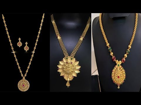 Latest Gold 8gram Necklace Designs with earrings with weight - She Fashion