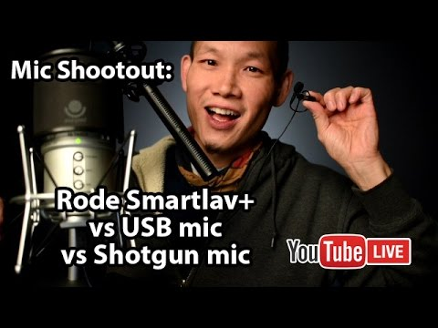 Microphone Shootout: Rode Smartlav+ vs USB Mic vs Shotgun Mic Comparison. tips and review