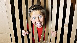 Box Fort Obstacle Course! ESCAPE ROOM