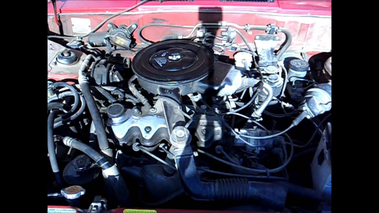 1987 Nissan Sentra XE - Engine & Exhaust Clip - YouTube