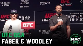 Tyron Woodley & Urijah Faber call for title fights during UFC Q&A
